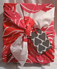 Handprinted gift wrap