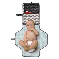 Skip Hop Pronto Baby Changing Station & Diaper Clutch Chevron