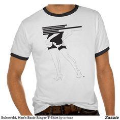 Bukowski, Men's Basic Ringer T-Shirt