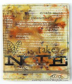 Layers of ink - Brusho Watercolour Notebook Video Tutorial by Anna-Karin. Made for the Simon Says Stamp Monday Challenge blog, using Brusho Crystals, stamps and a Sizzix die by Tim Holtz.