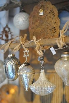 vintage mercury glass ornaments                                                                                                                                                                                 More