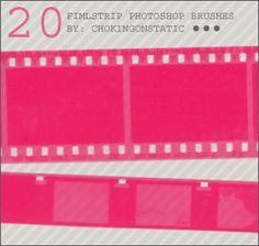 filmstrip brushes by chokingonstatic.deviantart.com