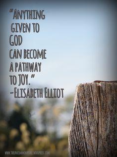 Remembering Elisabeth Elliot the uncommon pearl Elizabeth Elliot, Jim Elliot, Bible Verses Quotes, Faith Quotes, Me Quotes, Scriptures, Qoutes, Quotations, Great Quotes