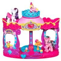 MY LITTLE PONY RARITY'S CAROUSEL BOUTIQUE Playset    (& Party Planner on page)