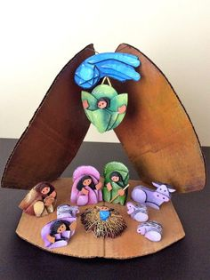 Nativity Scene by Ciclomanias on Etsy
