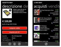 APPLICAZIONE GRATUITA EBAY DA SCARICARE PER SMARTPHONE WINDOWS PHONE IN ITALIANO