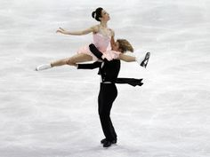 Meryl Davis and Charlie White performing their ice dance short program.