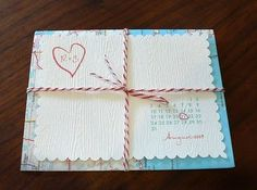 very cute diy save the date for a destination wedding.