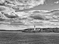 A Lighthouse in Portland - A lighthouse on the shore of Portland