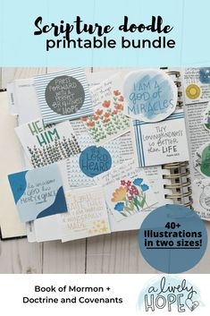 Scripture Doodles Printable Bundle | alivelyhope.com Mormon Doctrine, Doctrine And Covenants, Scripture Doodle, Scripture Study, Lds Blogs, Fhe Lessons, Lds Primary, Visiting Teaching, Lds Church