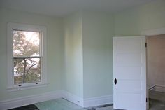 Glidden Fresh Cut - might be nice for the upstairs guest room. Office Paint Colors, Valspar, Guest Room, Restoration, New Homes, Bedroom Green, Projects, Park, Plaster