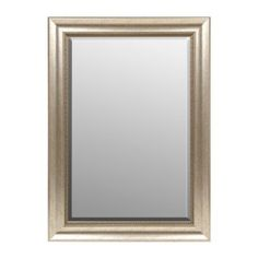 Silver Embossed Edge Framed Mirror, 30x42 in.