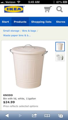 Ikea Knodd Waste Bin ($25).  A good diaper pail for an Ikea themed nursery. Themed Nursery, Nursery Themes, Small Storage, Storage Bins, Ikea Nursery, Baby Shower Items, Bin Bag, Diaper Pail, Waste Paper