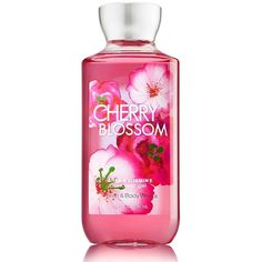 Amazon.com : Bath & Body Works Cherry Blossom Shower Gel 10FL OZ/295ML... ($34) ❤ liked on Polyvore featuring beauty products, bath & body products and body cleansers