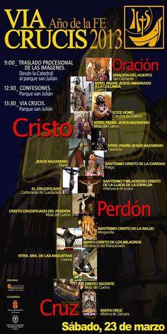 Via Crucis Año de la Fe 2013. Cuenca. Participación de Santísimo Cristo de la Caridad (Priego).