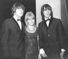 John Lennon, Cynthia Powell-Lennon, and George Harrison