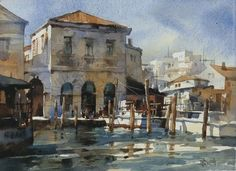 """Venice"" 『波動威尼斯』(2013) By Chien Chung Wei (also known as Prince Hibari) (簡忠威), from Taipei, Taiwan  - watercolor -"
