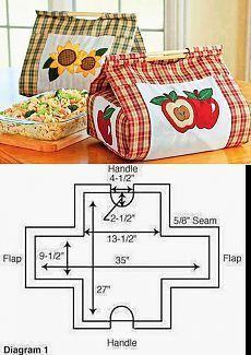 Una idea muy original para transportar dulces tipo tarta y demás o algo para picar cuando vas de invitada. Bolsa comida