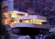 Frank Lloyd Wright  Fallingwater...the view from inside is even more amazing