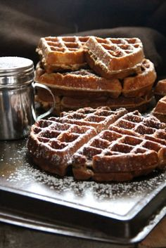 Gingerbread Waffles...perfect for a chilly fall saturday morning with some steaming hot coffee...