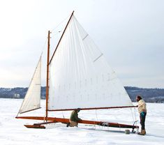 This article on ice boating makes me ache a little -- it looks like a dream!  (I bet it's cold, though!)