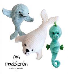 """Madelenón patrón de crochet PDF """"Mi Mar"""""""
