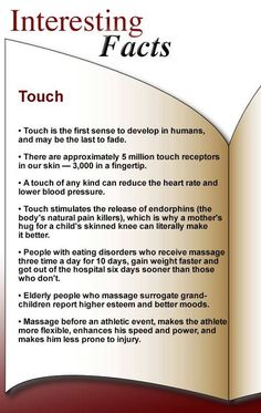 Interesting Facts about Touch & Massage (via Pressure Point Massage Therapy)