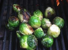 Did you know you could grill Brussels Sprouts and they are delicious with the right seasoning.