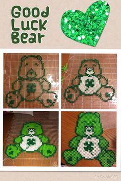 Good Luck Care Bear perler beads by Tiffany Dahl