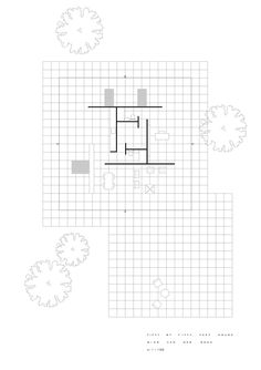 Ludwig Mies van der Rohe, 50 x 50 House, 1950 52 renderings by Xabier Perez de Arenaza Architecture Graphics, Architecture Drawings, Architecture Plan, Ludwig Mies Van Der Rohe, Plan Drawing, Presentation Design, Design Process, Interior And Exterior, House Plans