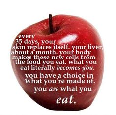 You really are what you eat...