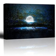 Wall26 - Glowing Full Moon Over a Blue Background with Br... https://www.amazon.com/dp/B01FTO9SAO/ref=cm_sw_r_pi_dp_x_SvWcyb034QX53