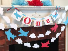 Airplane 1st birthday Cake Smash photo prop by anyoccasionbanners
