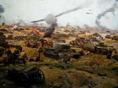 Kursk 1943, Red Army counter-attack. Detail from the Cyclorama of Kursk.