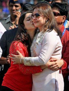 Daughter Sara is seen here with Anjali Tendulkar.