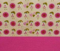 Set Jersey Mädchen +Bündchen pink
