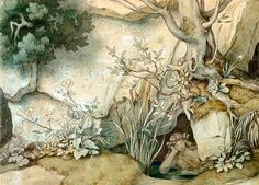 Fontes Melusinae (Moritz von Schwind) Moritz Von Schwind, Enchanted Wood, Fairytale Fantasies, Fantastic Art, Neverland, Faeries, Mystic, Fairy Tales, Illustration Art