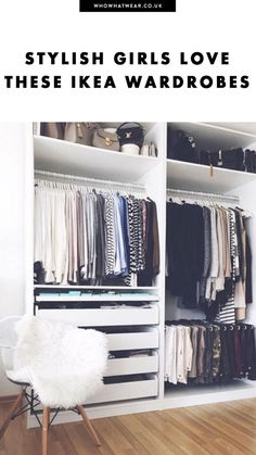 The perfect IKEA closet can be a beautiful things. This is how fashion girls make their fashion wardrobe beautiful.