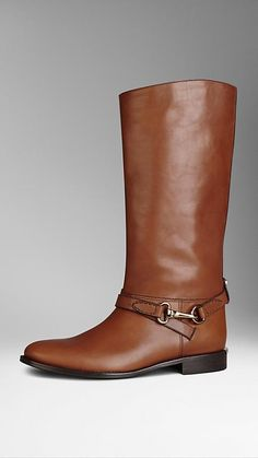 Burberry Polished Metal Buckle Riding Boots $850.00 - Buy it here: https://www.lookmazing.com/burberry-polished-metal-buckle-riding-boots/products/5959195?shrid=2507_pin