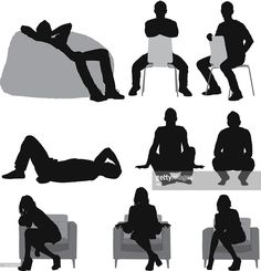 stock illustration : Silhouette of people sitting in different poses People Cutout, Cut Out People, People Sitting Png, Persona Vector, People Png, Architecture People, Sitting Poses, People Illustration, Free Illustrations
