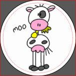 Cow Says Moo Tshirts and Gifts Round Sticker | Zazzle