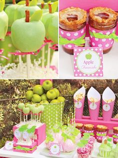 Charlottes Apple of My  Eye Party Dessert Table