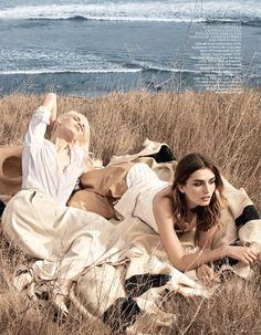 Fashion Editorial : Ashleigh Good & Andreea Diaconu for Vogue UK June 2014