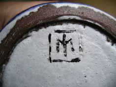 Tony Morris ex Poole Pottery - TM mark