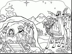mortimers christmas manger coloring pages - photo#28