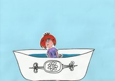 Bewegende FLoddertje. 1) Kleurplaat Floddertje en bad inkleuren. 2) Floddertje en bad uitknippen. 3) Rand bij het water uitprikken. 4) Floddertje op een ijslollystokje plakken. 5) Bad op gekleurd vel plakken (stuk onder versiering bad niet!). 6) Floddertje ertussen stoppen en spelen maar!