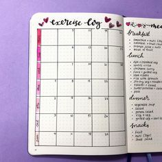 Plan With Me: My February Set Up in my Bullet Journal — Square Lime Designs
