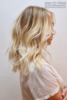 shoulder length blonde platinum ombre - Google Search