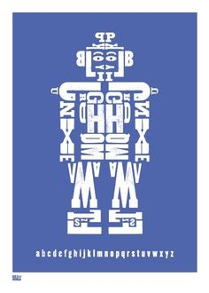 Bold and Noble Alphabot Print, $74.95 Perfect new baby gift idea or Christening gift. Beautiful to decorate any nursery for a little boy (or girl!)