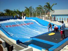 FlowRider surfing attraction, Grand Turk Cruise Center, Grand Turk Island, Turks & Caicos
